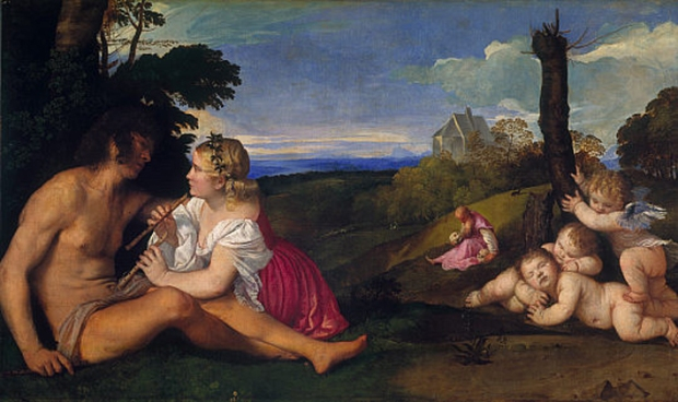 The three ages of man, by Titian