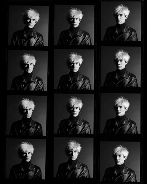 contact sheet by Andy Warhol