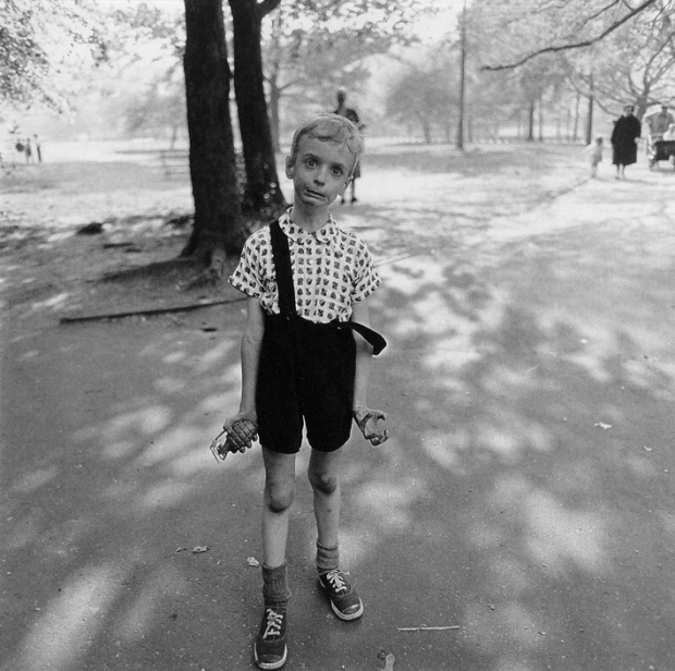 Child with Toy Hand Grenade in Central Park, New York,1962, by Diane Arbus