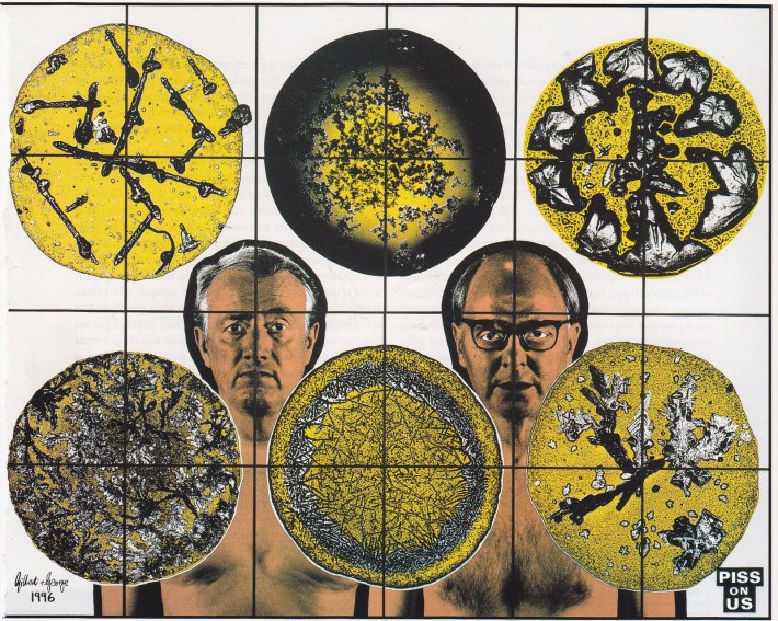 Piss On Us, by ©Gilbert and George