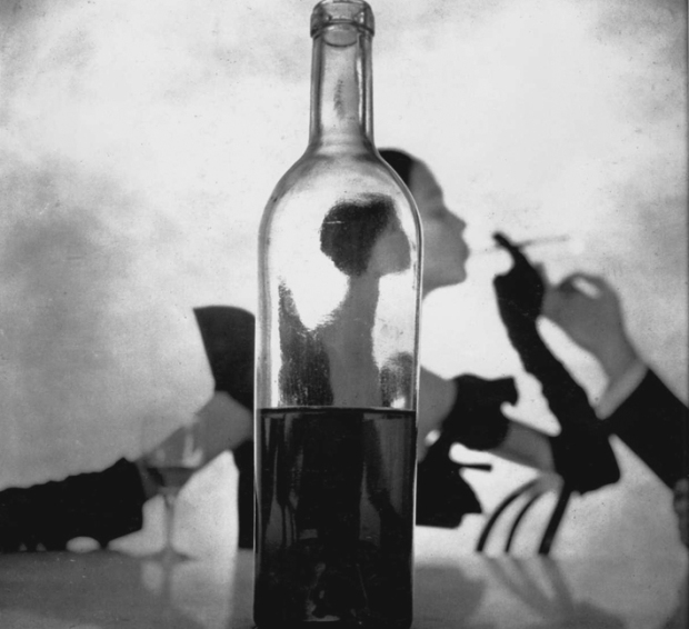 Girl Behind Wine Bottle, 1949 by ©Irving Penn