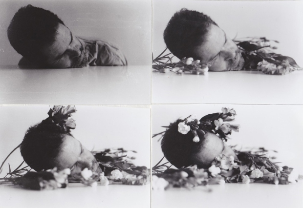 The dream of flowers by Duane Michals, 1990