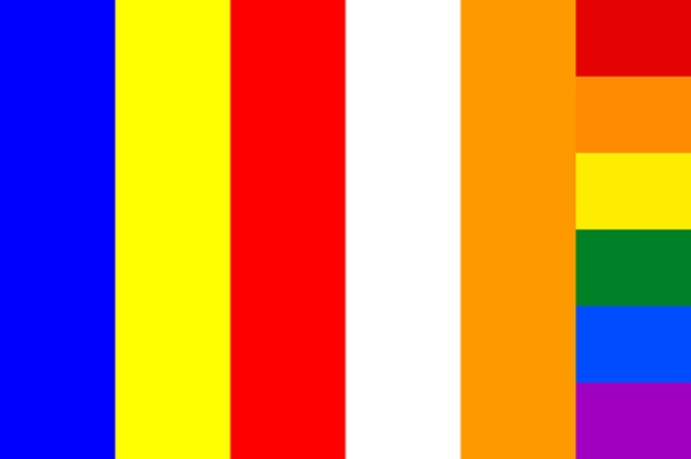 world Buddhism flag