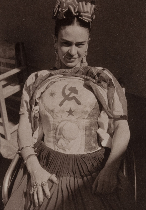 Frida Kahlo's body cast painted