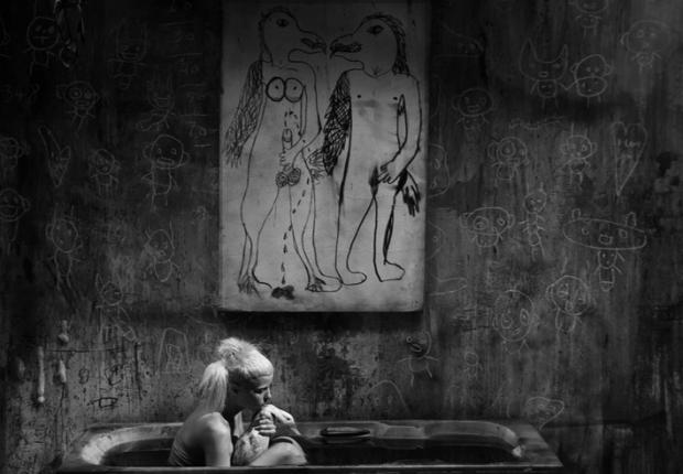 Bath scene, by ©Roger Ballen