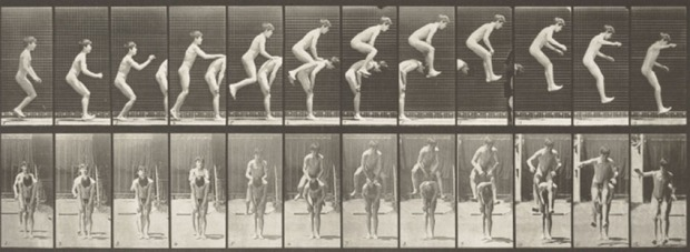 """Jumping over a boys back crop"", by Eadweard Muybridge"