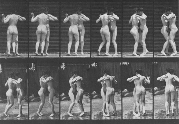 Two Women Dancing a Waltz, by Eadweard Muybridge