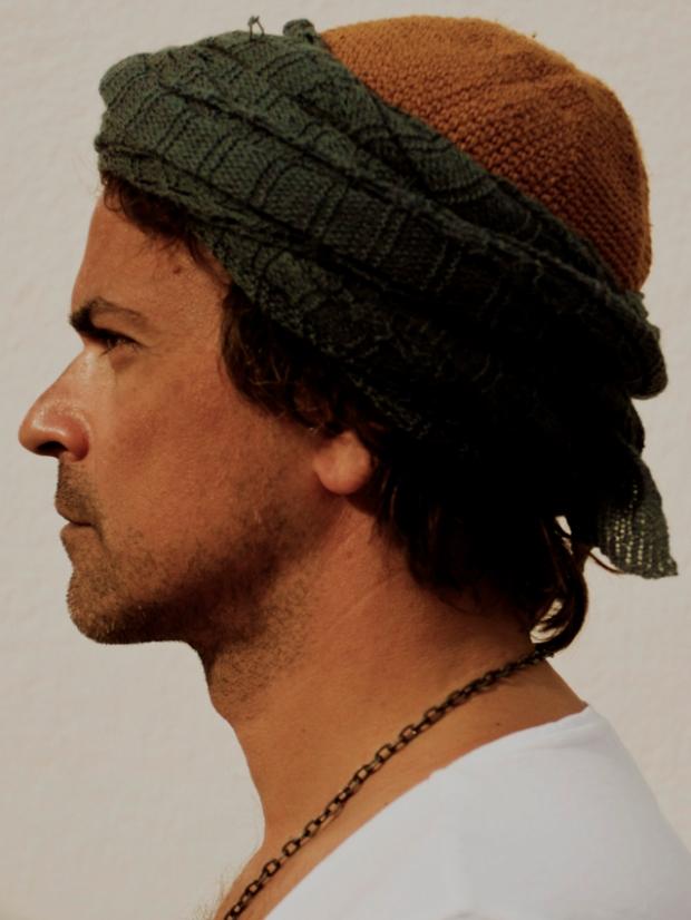self-portrait with turban, Sahara 2013, by ©Gonzalo Benard