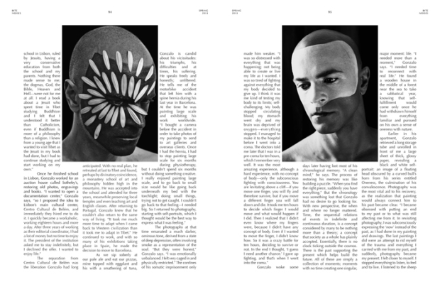 tear sheet of BITE issue NOISE with interview by Deak Rostochil to GBénard
