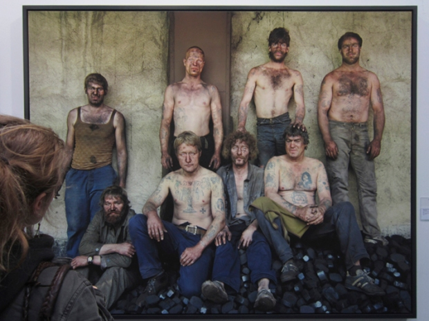 East German Coal Gang, 1990, by Eberhard Grames