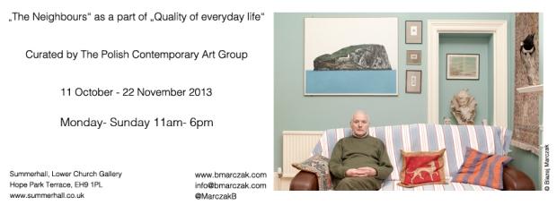 "Invitation for Blazej Marczak's exhibition ""The Neighbours"""