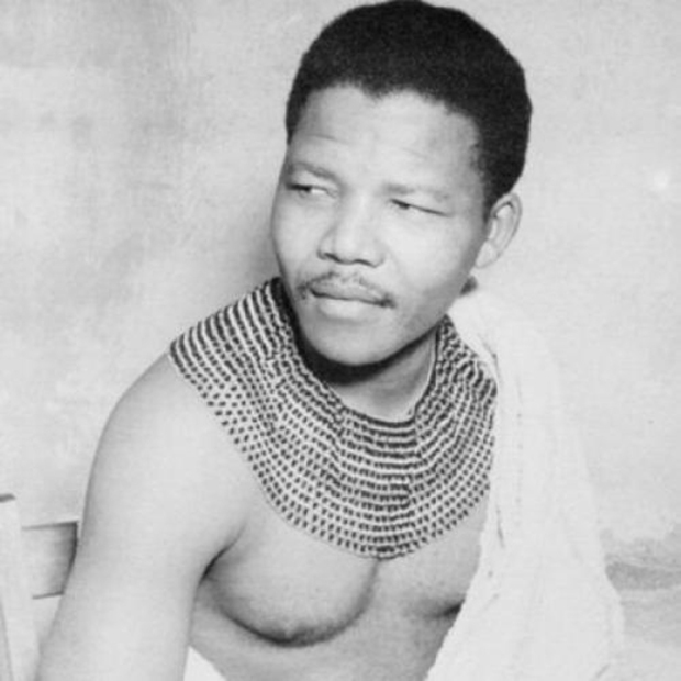 Nelson Mandela with Collar: The Revolutionary