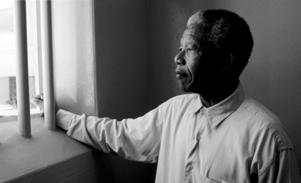 Nelson Mandela in Robben Island