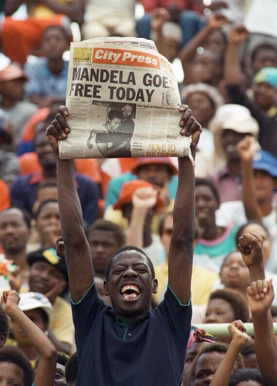 Soweto february 11 1990 by Trevor Samson AFP