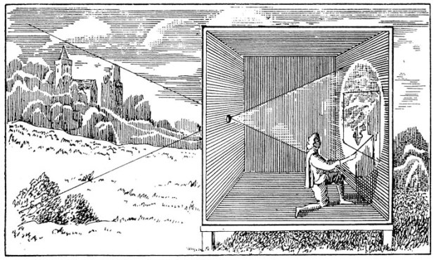 Camera Obscura used by a painter