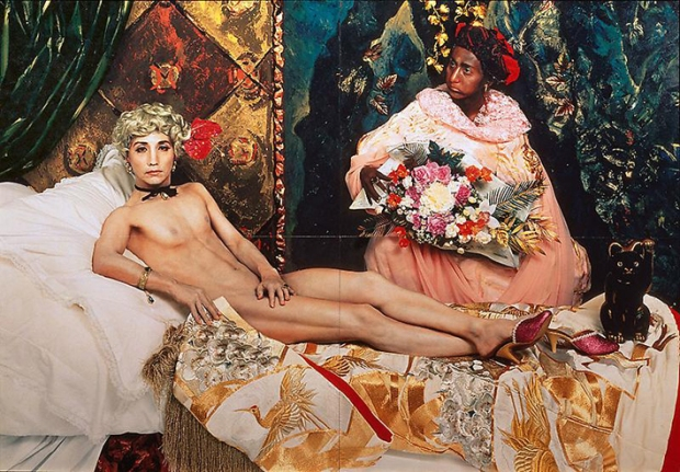 Self Portrait as Manet's Olympia, 1988, by Yasumasa Morimura
