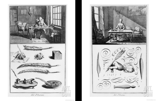 The Art of Writing, By Robert Bénard, from the Encyclopedie by Denis-Diderot, 1763