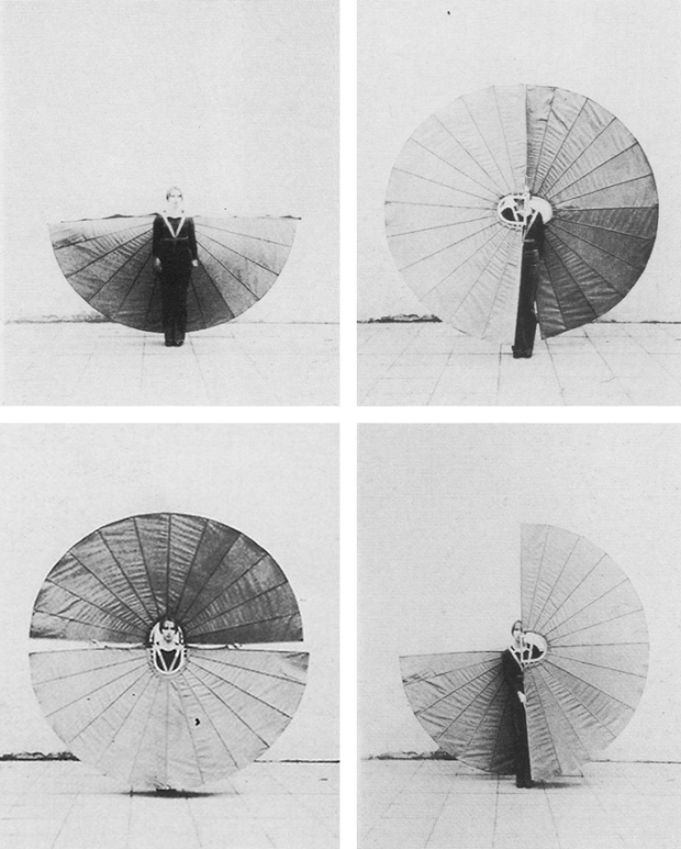 White Body Fan, 1972 by Rebecca Horn