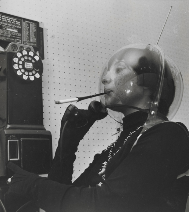 Martian Woman On The Telephone, 1955, by Weegee