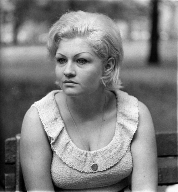 Woman in park by Diane Arbus