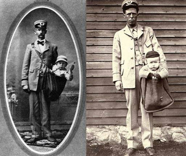 In 1913 it was legal to mail children with stamps attached to their clothing