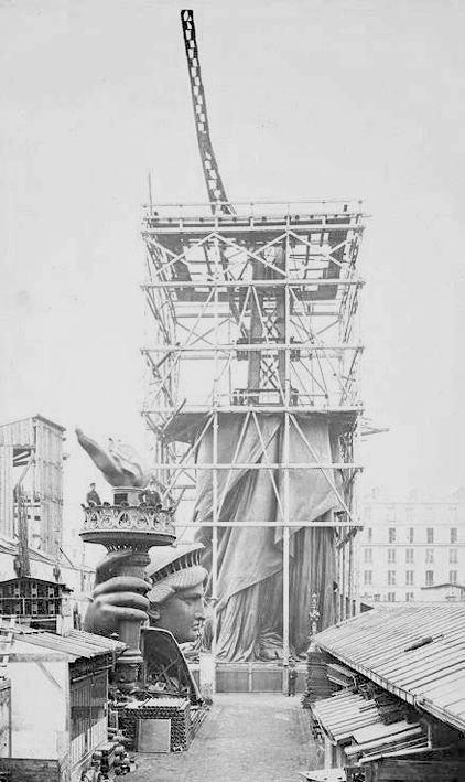 Statue of Liberty being built in Paris