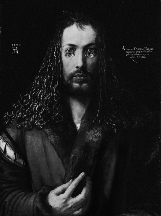 Self-portrait as Durer's self-portrat after Durer, by ©GBenard