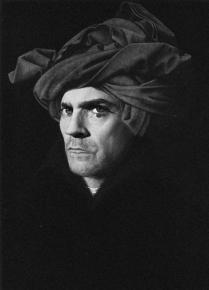 self-portrait with turban after Jan Van Eyck, by ©GBenard