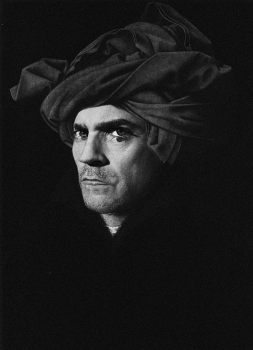self-portrait with turban after Jan Van Eyck, by ©GBenard