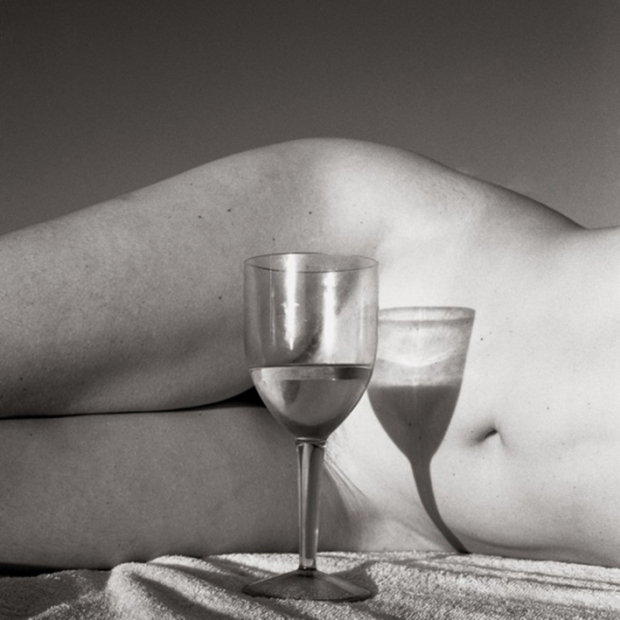 Torso and Wine Glass by Bobby Chitrakar