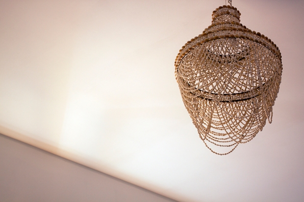 the ceiling lamp.